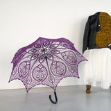 Lace wedding umbrella for 2018 ultra violet Victorian wedding