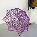 Purple lace halloween costume umbrella, Victorian accessory