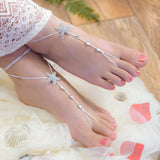 Crystal Starfish beach wedding barefoot sandals