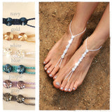 Colors available for Swarovski crystals barefoot sandals