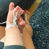 infant size of swarovski barefoot sandals