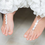 Children size Swarovski crystals barefoot sandals