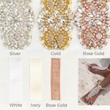 colors available for rhinestone bridal barefoot sandals