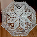Star lace umbrella front look