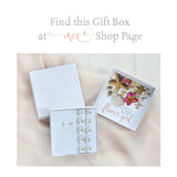 Flower girl gift box with Swarovski barefoot sandals and earrings