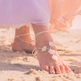 ivory flower girl foot jewelry