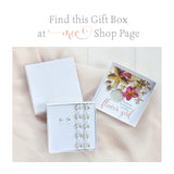 gift box option for swarovski crystals foot jewellry and earrings