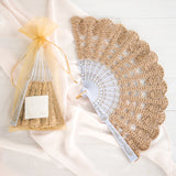 Two gold lace hand fans, oe flat and one packed