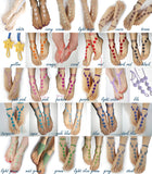 Heart barefoot sandals color choice