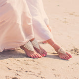 mommy and me lace barefoot sandals
