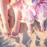 mommy and me swarovski barefoot sandals