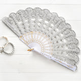 pearl gray spanish hand fan