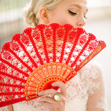 Red Spanish hand fan, gift for her, gift under 50