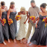 Beach wedding bride and her team wearing barefoot sandals