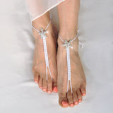 Crystal starfish foot jewelry