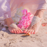 baby girl triangle barefoot sandals