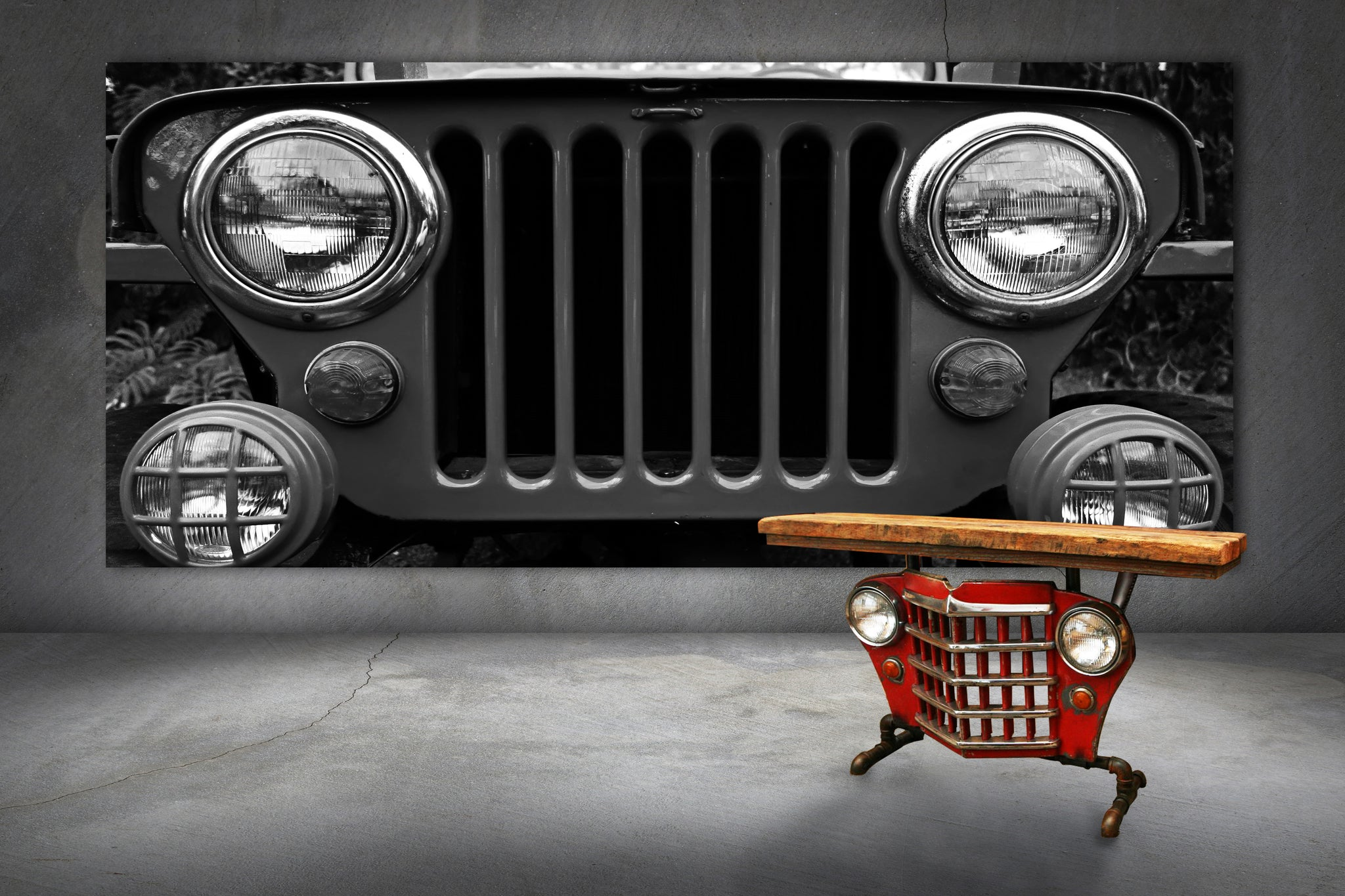 Jeep automobile furniture bar table retro
