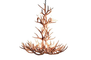 12 Light XL Mule Deer Antler Chandelier - Rustic Deco Incorporated