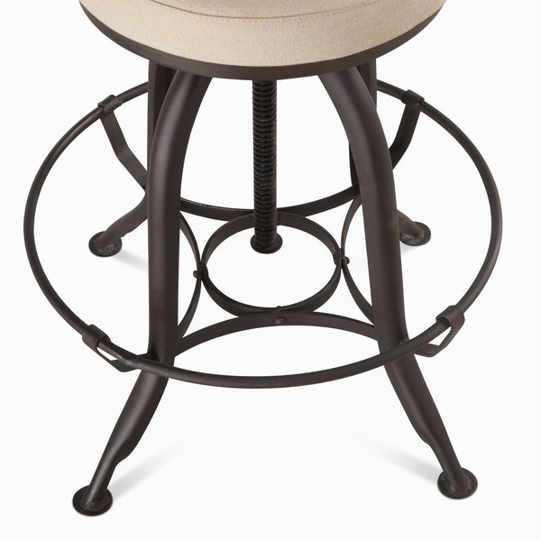23 Quot Industrial Adjustable Counter To Bar Stool Canvas Metal