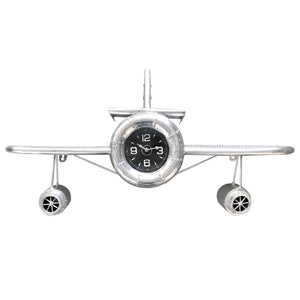 "Airplane Wall Clock - Polished Aviation Aluminum - 36"" Wingspan-Rustic Deco Incorporated"
