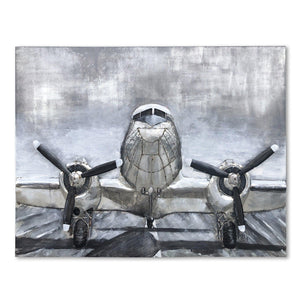 Douglas C-47 Skytrain 3D Metal Wall Art - WWII Transport Airliner-Rustic Deco Incorporated