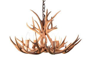Genuine Mule Deer Antler Chandelier - 4 Light Handmade USA - Cabin - Rustic Deco Incorporated