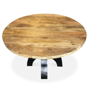 "48"" Round Industrial Dining Table Dining Table Rustic Deco"