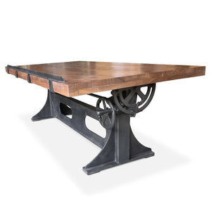 "70"" Industrial Drafting Desk Cast Iron Base Tilt Adjustable Height NOT READY Rustic Deco Incorporated"