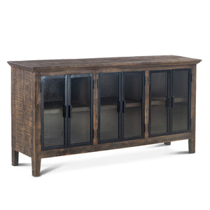 "70"" Steampunk Sideboard - Rustic Deco Incorporated"