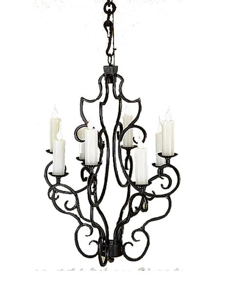 "8 Light Elegant Hand Forged Iron Chandelier 26"" Diameter - Rustic Deco Incorporated"