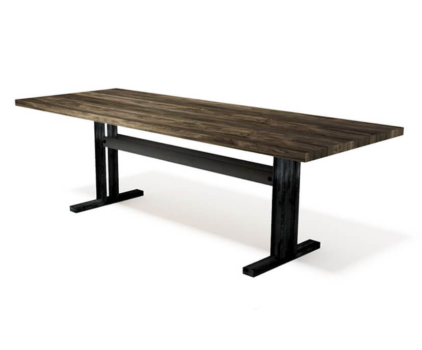 Abbey Modern Industrial Conference Table - Steel Base - Hardwood Top-Conference Table-Rustic Deco Incorporated