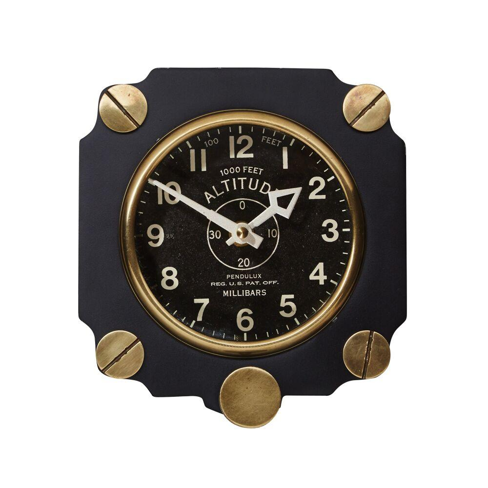 Altimeter Wall Clock Black - WWII Army Air Corp Aircraft - Aviation - Rustic Deco Incorporated