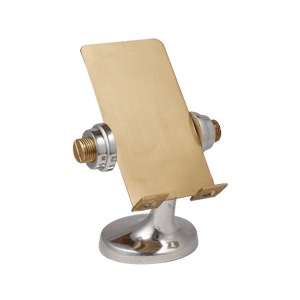 Apollo Cell Phone Stand Brass - Polished Aluminum - Space Age - Rustic Deco Incorporated