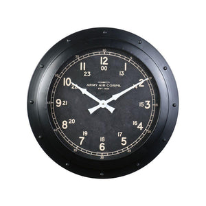 Army Air Corp Wall Clock - 1947 Army Air Corps Officer's Club - Rustic Deco Incorporated