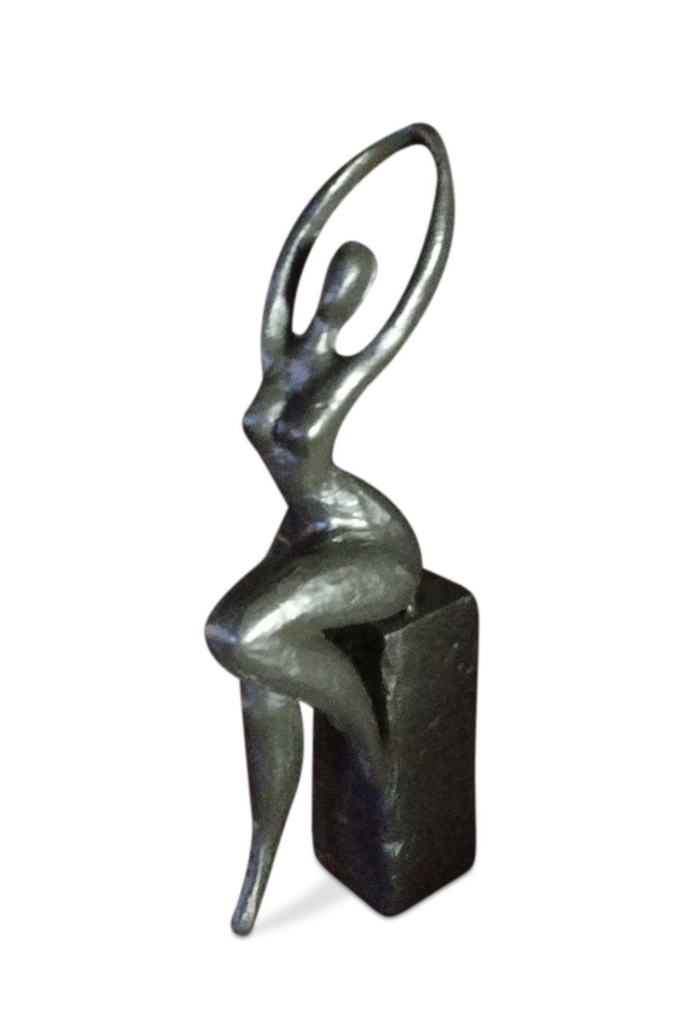 Art Deco Abstract Lady Sculpture - Cast Iron - Rustic Deco Incorporated