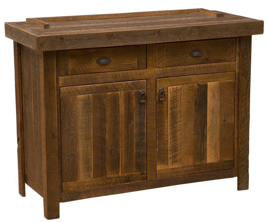 "Barnwood 48"" Buffet - Antique Oak Top and Artisan Top - Rustic Deco Incorporated"
