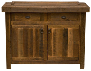 "Barnwood 48"" Buffet - Antique Oak Top and Artisan Top-Rustic Deco Incorporated"