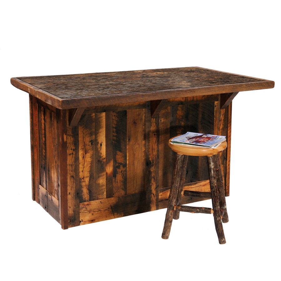 "Barnwood 60"" Kitchen Island - Laminate Top and Artisan Top - Rustic Deco Incorporated"