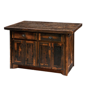 "Barnwood 60"" Kitchen Island - Laminate Top and Artisan Top-Rustic Deco Incorporated"