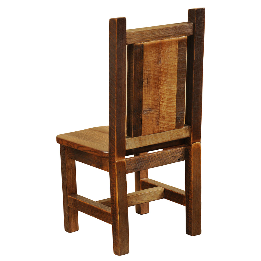Barnwood Artisan Dining Side Chair - Antique Oak Seat-Rustic Deco Incorporated