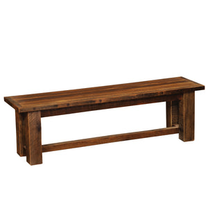 Barnwood Bench - 36, 42, 48, 60, 72-inch - Artisan Seat Top - Rustic Deco Incorporated