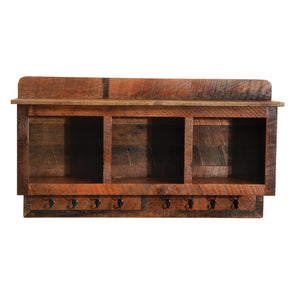 Barnwood Entry Hanging Locker from 1800s Reclaimed Tobacco Barn Wood - Rustic Deco Incorporated