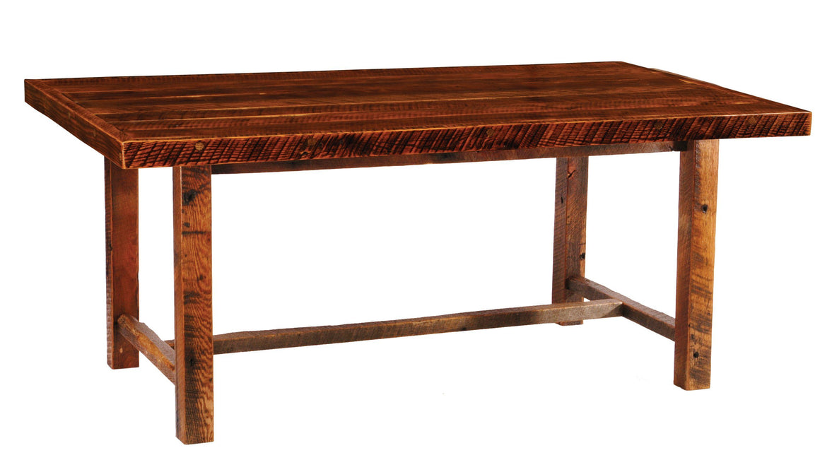 Barnwood Farmhouse Dining Table - 5, 6, 7, 8 Foot with  Artisan Top - Rustic Deco Incorporated