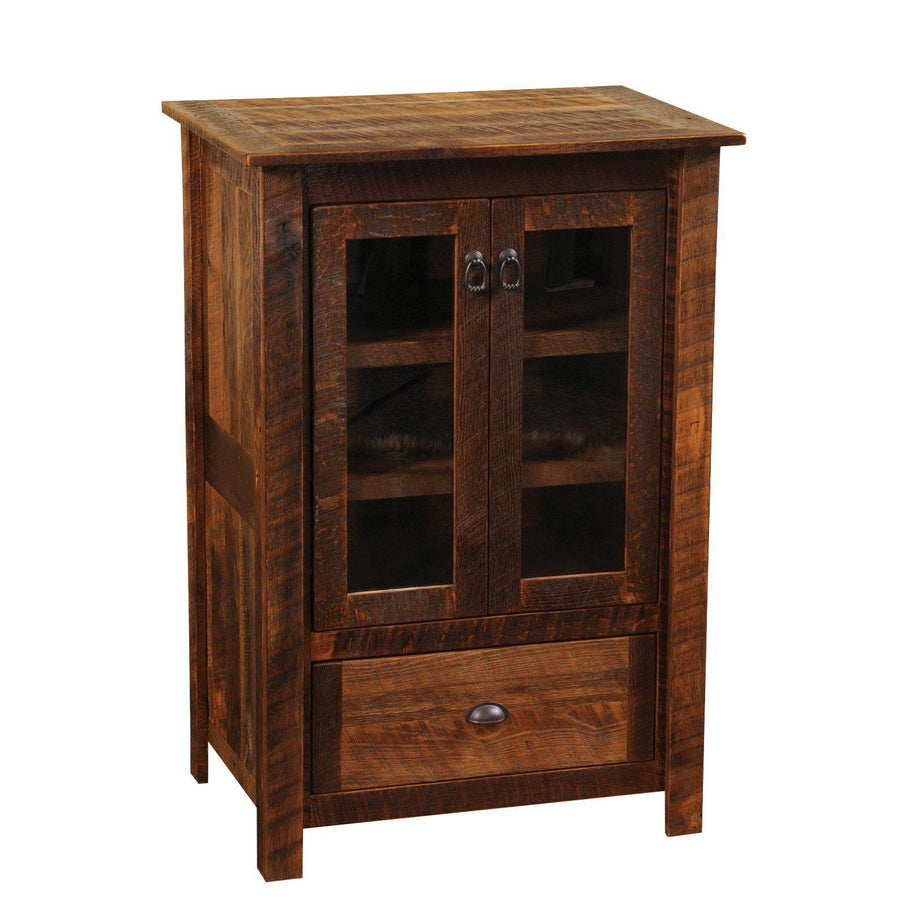 Barnwood Media Cabinet - Rustic Reclaimed Tobacco Barn Wood USA - Rustic Deco Incorporated