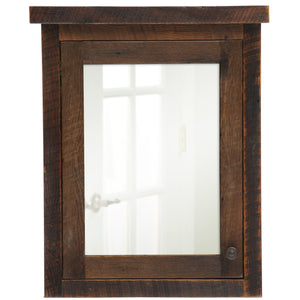 Barnwood Medicine Cabinet - 26 or 32-inch Hinged Right and Left-Rustic Deco Incorporated