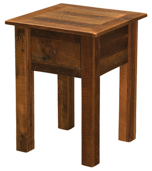 Barnwood One Drawer End Table - Barnwood Legs - Rustic Deco Incorporated