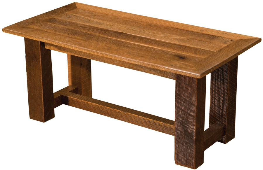 "Barnwood Open Coffee Table - 20"" x 40"" - 24"" x 48"" and 24"" x 60"" - Rustic Deco Incorporated"