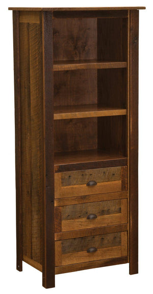 Barnwood Open Pantry - Reclaimed 1800s Tobacco Barn Wood USA - Rustic Deco Incorporated