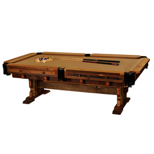 Genuine Handcrafted Barnwood Championship Billiards Pool Table Full-Size - Rustic Deco Incorporated