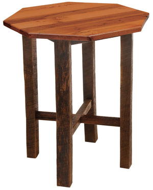 "Barnwood Pub Table - 36"" Octagon - Artisan Top and Antique Oak Top - Rustic Deco Incorporated"